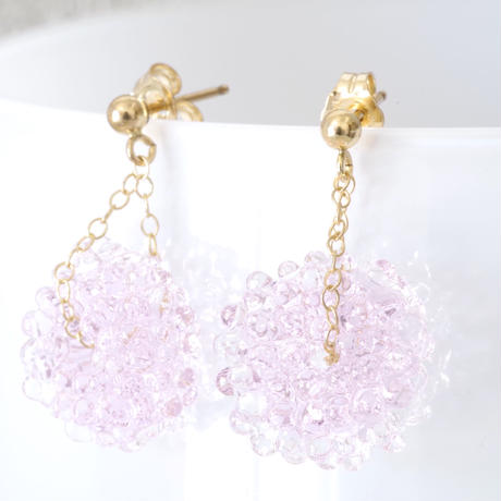 14kgf Mizore earrings Sakura