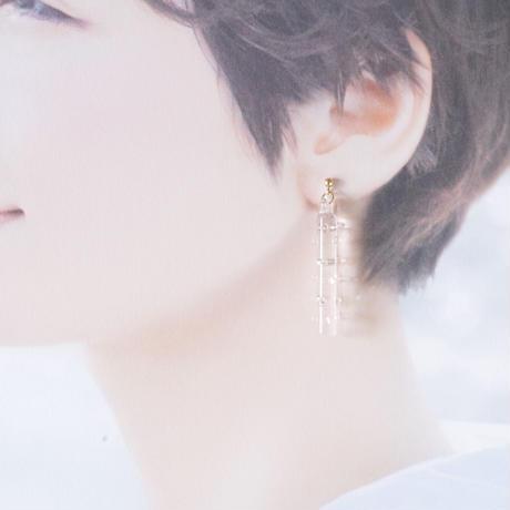 14kgf Ten Ten Pole earrings