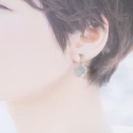 14kgf Mizore earrings Ice Blue
