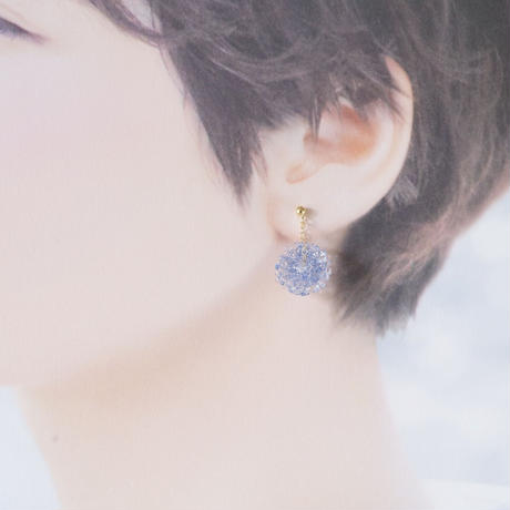 14kgf Mizore earrings Lt, Blue