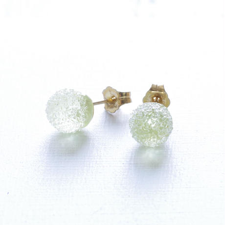 14kgf Bon Bon earrings Lime