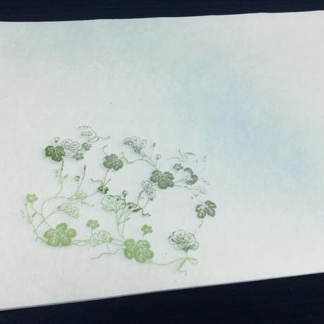 【現品限り】30×90㎝ 本楮紙 つる草紋様部分ぼかし 3枚入