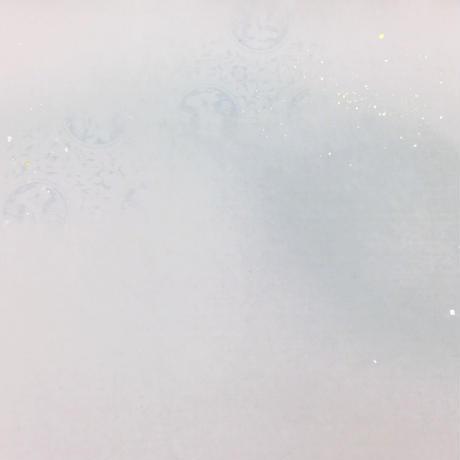 半切 楮紙 三色勾玉ボカシ新沙色型打砂子 (1枚売り)