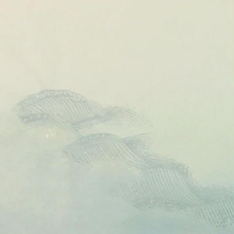 30×100㎝ 新鳥の子 裾ぼかし波紋様砂子 1枚売り