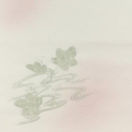 半切 千草 流葉紋様(茜ぼかし砂子) 10枚入