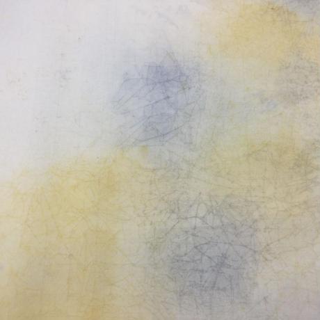 2尺×6尺 楮紙 手揉2色ぼかし 藤色+オード  1枚売り