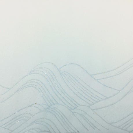 2尺×6尺 むくげ 裾ぼかし波紋様砂子(横)5枚入
