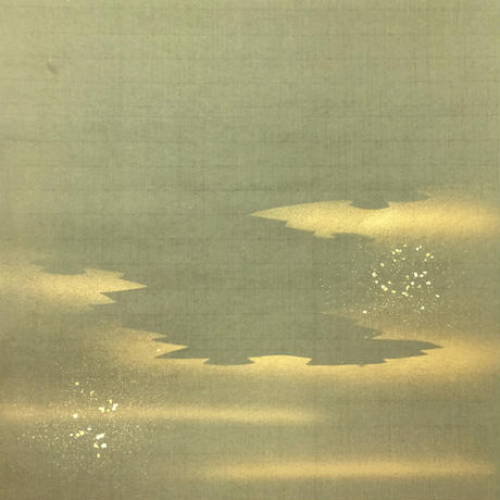 半切 楮紙 染金雲泥ぼかし (1枚売り)