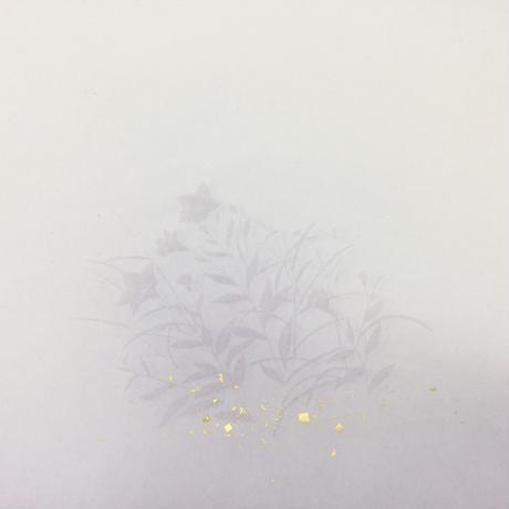 30×100㎝ 新鳥の子 裾ぼかし桔梗紋様切箔砂子 1枚売り