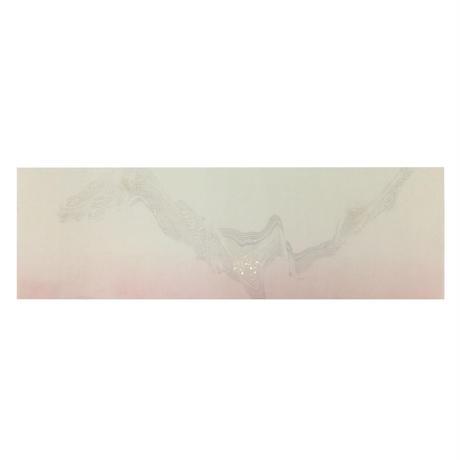 30×90㎝ 本楮紙 裾ぼかし墨流し紋様切箔砂子 1枚売り