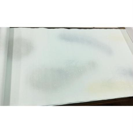 2尺×6尺 楮紙 三色特殊全体ぼかし新沙色打金銀砂子振り 1枚売り