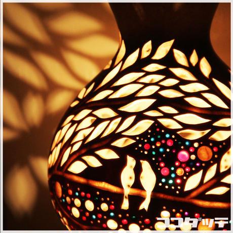 ひょうたんランプ050【森鳥】