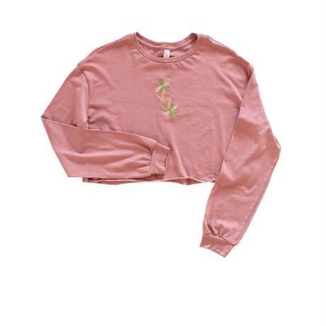 【Women's size】Palm tree Long-sleeve T-shirt