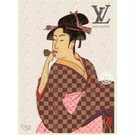 キャンバス410×273×D20mm 【 UTAMARO ART 喜多川歌麿 オマージュ #sh01 】