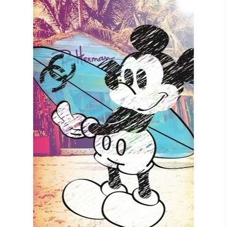 キャンバス530×410×D20mm 【 Mickey Surf #hi28 】