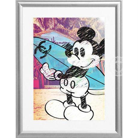 A4 ポスターフレームセット  【 Mickey Surf #hi28 】