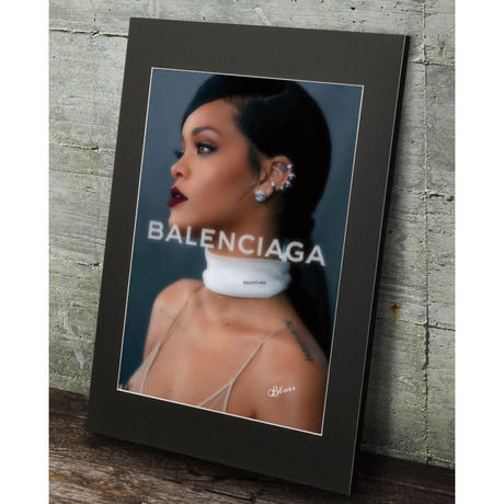 リアーナ バレンシアガ フォトポスター 高級マットパネル_A2A1サイズ『Blues』