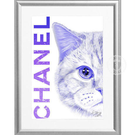A4 ポスターフレームセット 【CHANEL CAT #er66】