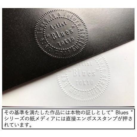 シャネル 香水 ジャスミン おしゃれアート_A4サイズ『Blues』
