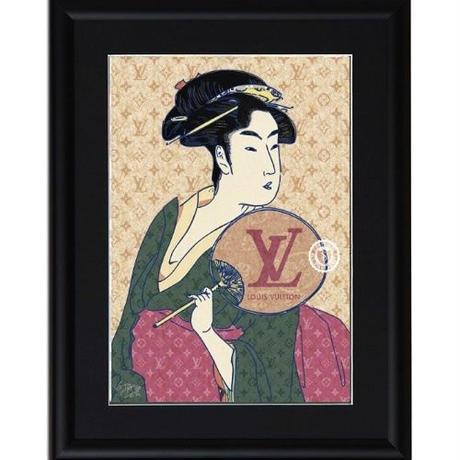A4 ポスターフレームセット 【 UTAMARO ART 喜多川歌麿 オマージュ #sh12 】