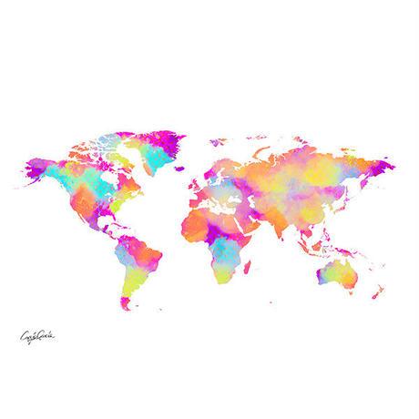 A1 ポスターフレームセット LV WORLD MAP