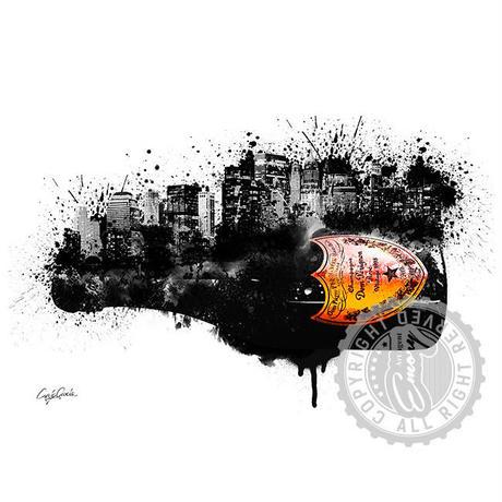 キャンバス 727×530×D20mm 【 DOM PERIGNON City 】
