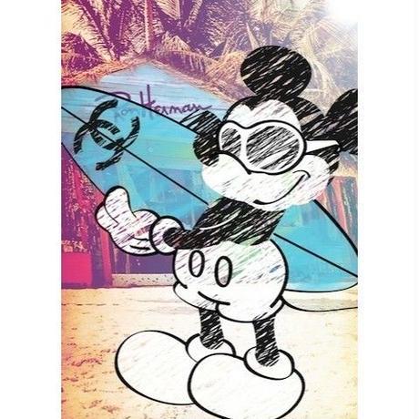 キャンバス727×530×D20mm 【 Mickey Surf #hi28 】