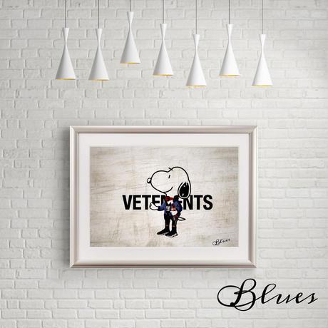 スヌーピー  バレンシアガ ヴェトモン オマージュアート_A4サイズ『Blues』