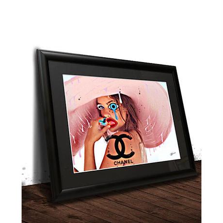 【A4サイズ】シャネル CHANEL ピンク アートポスターフレームセット