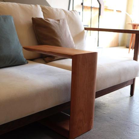sofa side table (KOMAシェイプver.)【cherry】