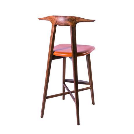 sim arm counter chair【walnut】