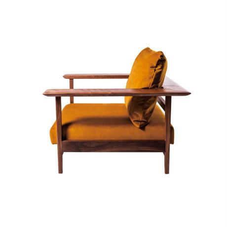 The sofa 1P     【walnut】