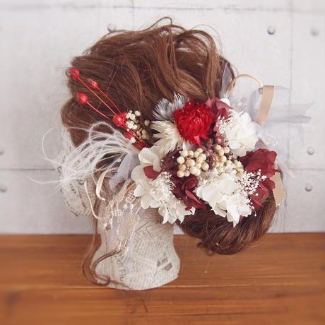 momiji  プリザーブドフラワーとチュールのヘッドドレス