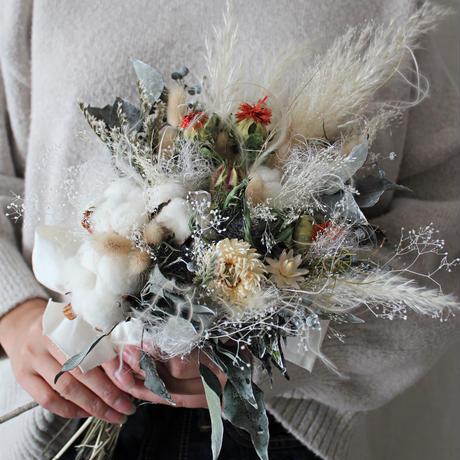 cotton bouquet set ~ブーケー・ブートニア~