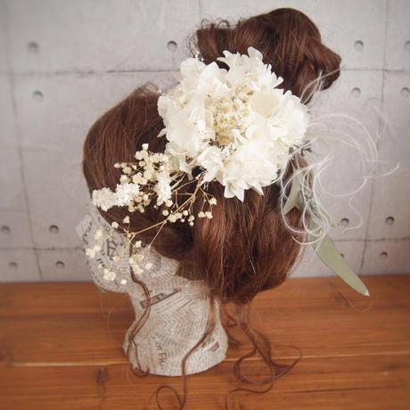 manmaru~kinu~プリザーブドフラワーのヘッドドレス