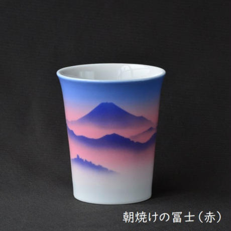九谷焼カップ ~四季の冨士~