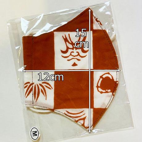 歌舞伎マスク 朱赤色