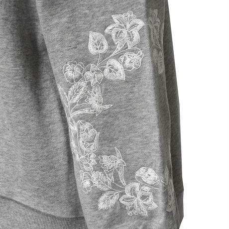 袖刺繍スウェット(グレー)