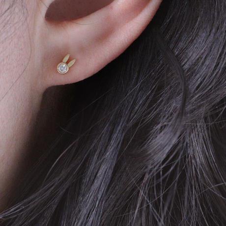 DIA RABBIT STUD EARRING