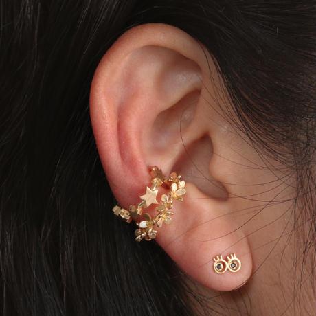 SIMPLE FLOWER EAR CUFF