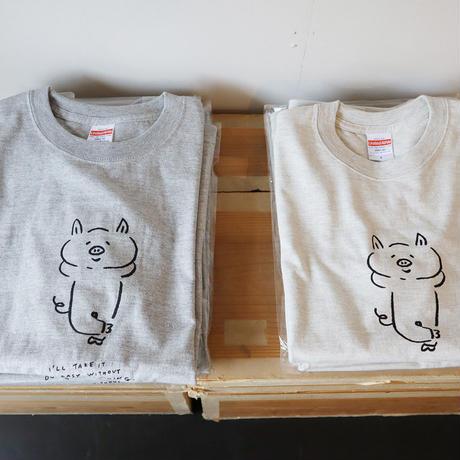 ぶたのTシャツ(Sサイズ・オートミール)
