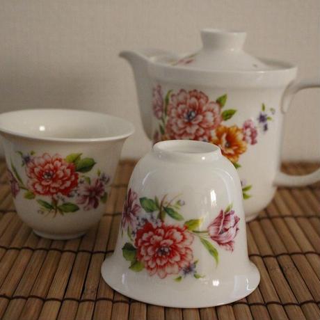 台湾茶器セット 湯飲み2ヶ  [台湾]