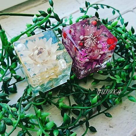 (ホワイト追加!) 花の舞オルゴナイト