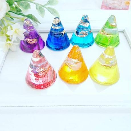 チャクラ対応のかわいいミニサイズ☆キャンディーオルゴナイト(7色あります)