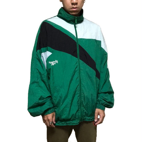 【USED】90'S REEBOK NYLON JACKET GREEN
