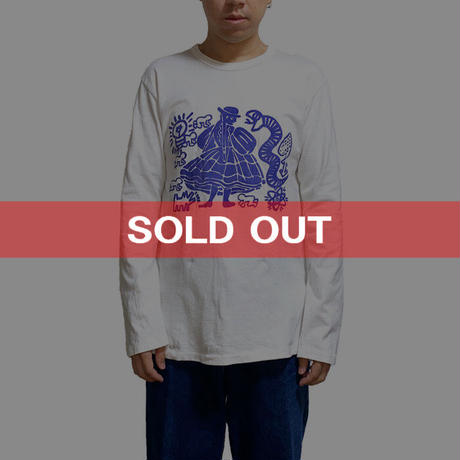 """【USED】90'S WORLDS END CLASSICS KEITH HARING """"BUFFALO GAL"""" L/S T-SHIRT"""