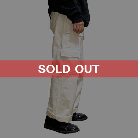 【USED】90'S A.P.C. CARGO PANTS WHITE