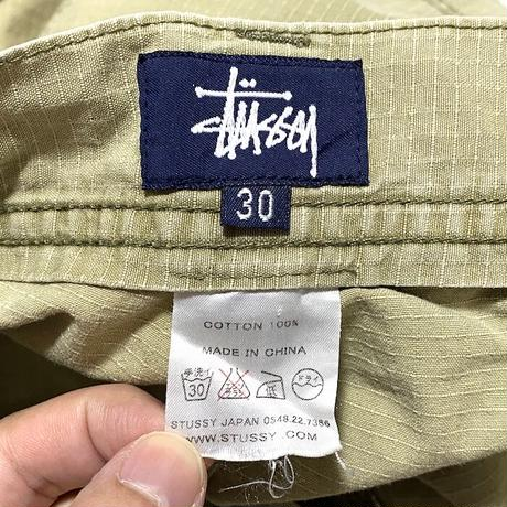 【USED】00'S STUSSY TACTICAL PANTS BEIGE