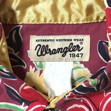 【USED】WRANGLER ALOHA SHIRT with WESTERN STYLE