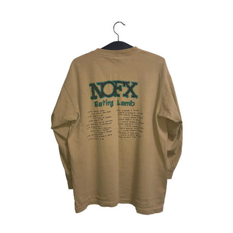 "【USED】90'S NOFX ""EATING LAMB"" L/S T-SHIRT"